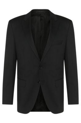 Regular-Fit Tailored Sakko aus Schurwolle: 'T-Howard4', Schwarz