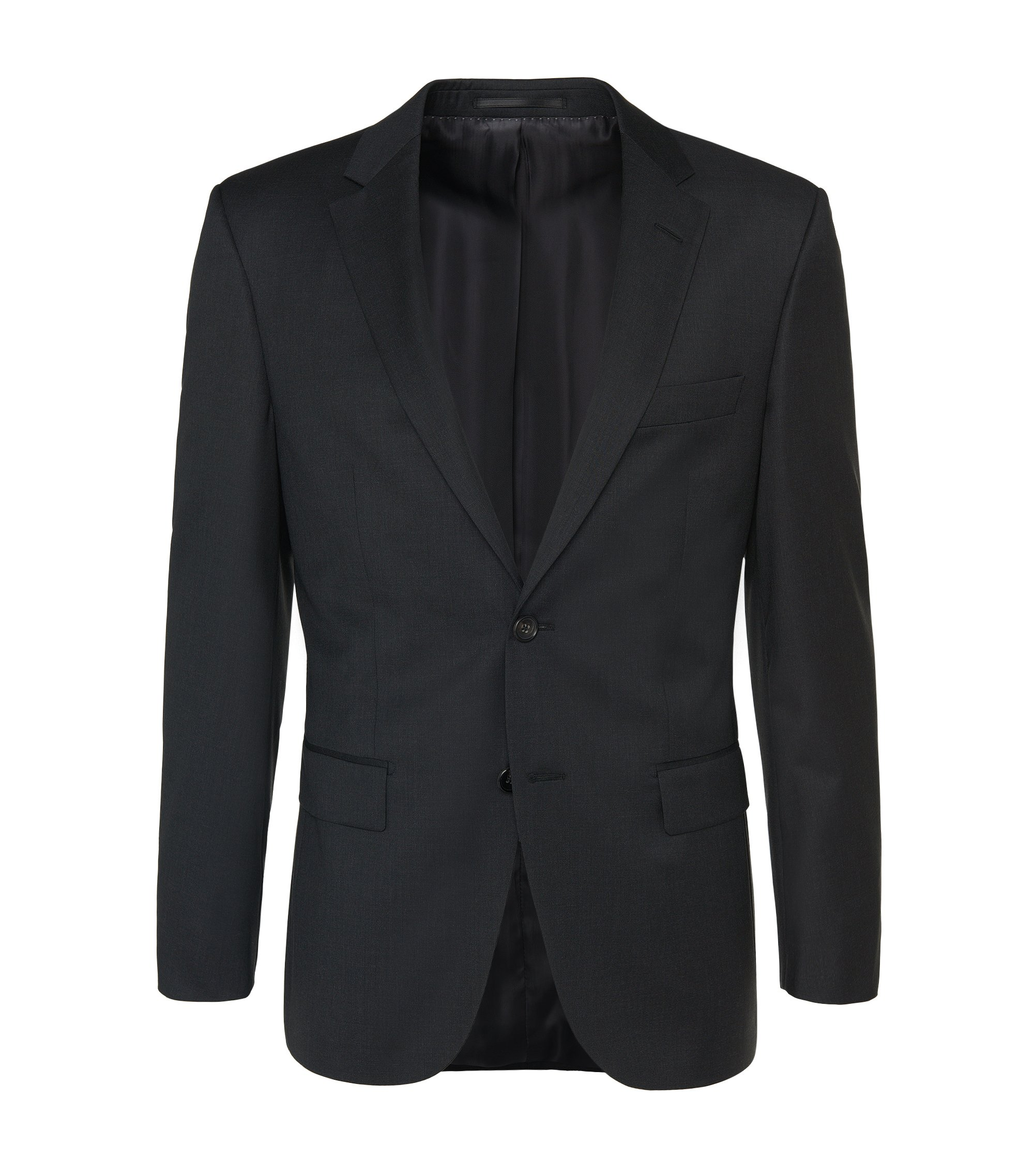 Veste de costume Regular Fit Tailored en laine vierge : « T-Howard4 », Anthracite