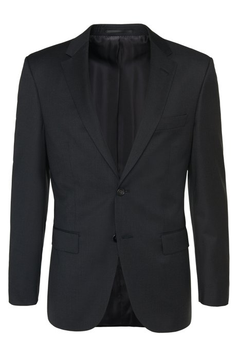 Regular-fit Tailored jacket in new wool: 'T-Howard4', Anthracite