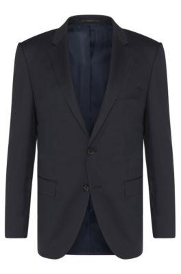 Giacca Tailored regular fit in lana vergine: 'T-Howard4', Blu scuro