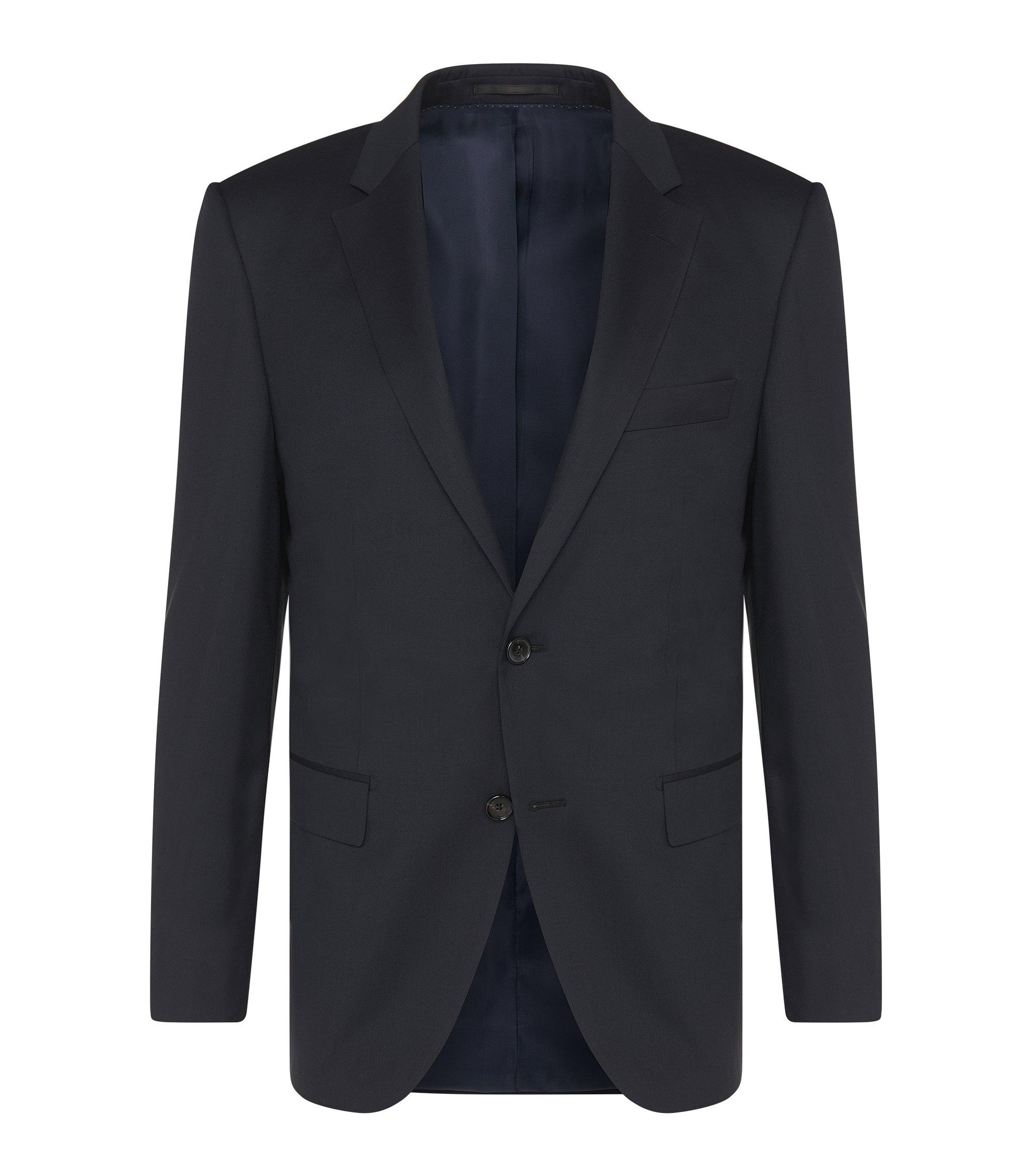 Veste de costume Regular Fit Tailored en laine vierge: «T-Howard4», Bleu foncé
