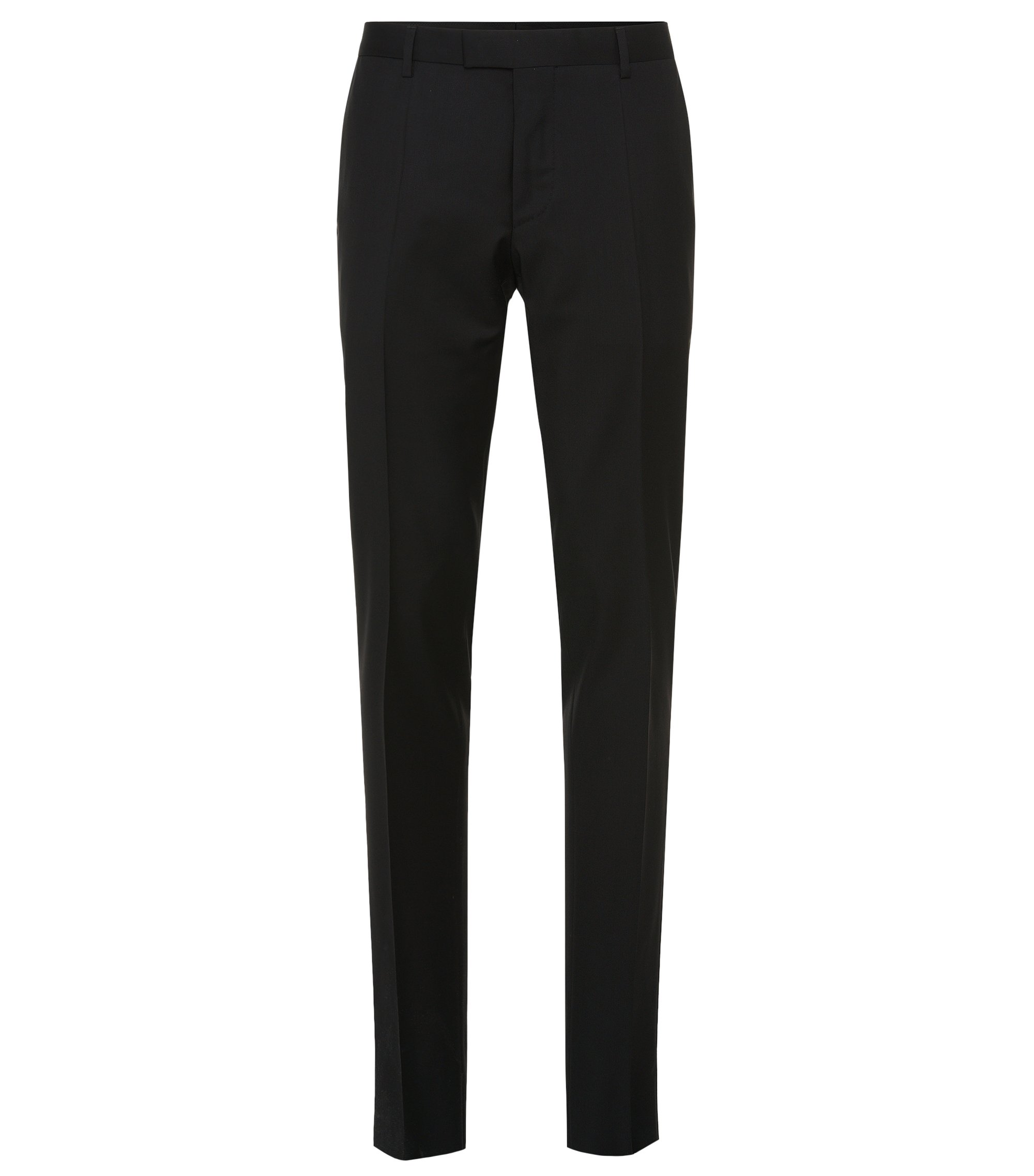 Pantalón Tailored slim fit en pura lana virgen: 'T-Court5', Negro