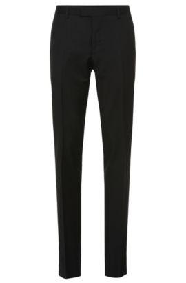 Pantalón Tailored slim fit en pura lana virgen: 'T-Court5', Negro
