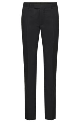 Slim-fit Tailored trousers in pure new wool: 'T-Court5', Anthracite