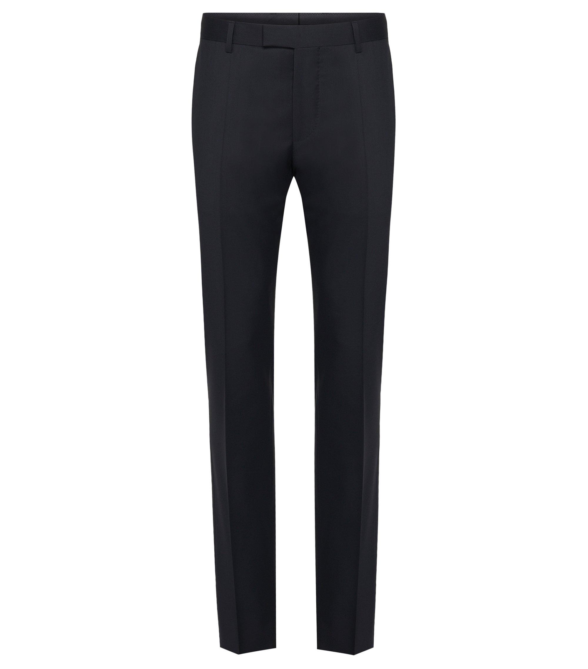 Slim-fit broek van zuivere scheerwol uit de Tailored-collectie: 'T-Court5', Donkerblauw