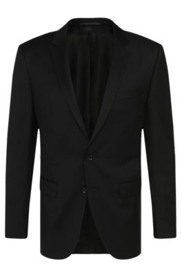 Giacca Tailored slim fit in pura lana vergine: 'T-Harvers2', Nero
