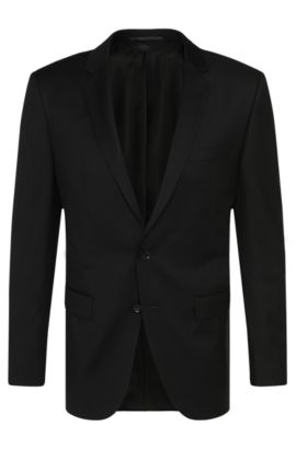 Slim-Fit Tailored Sakko aus reiner Schurwolle: 'T-Harvers2', Schwarz