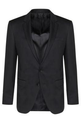 Giacca Tailored slim fit in pura lana vergine: 'T-Harvers2', Grigio antracite