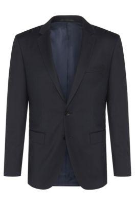 Slim-Fit Tailored Sakko aus reiner Schurwolle: 'T-Harvers2', Dunkelblau