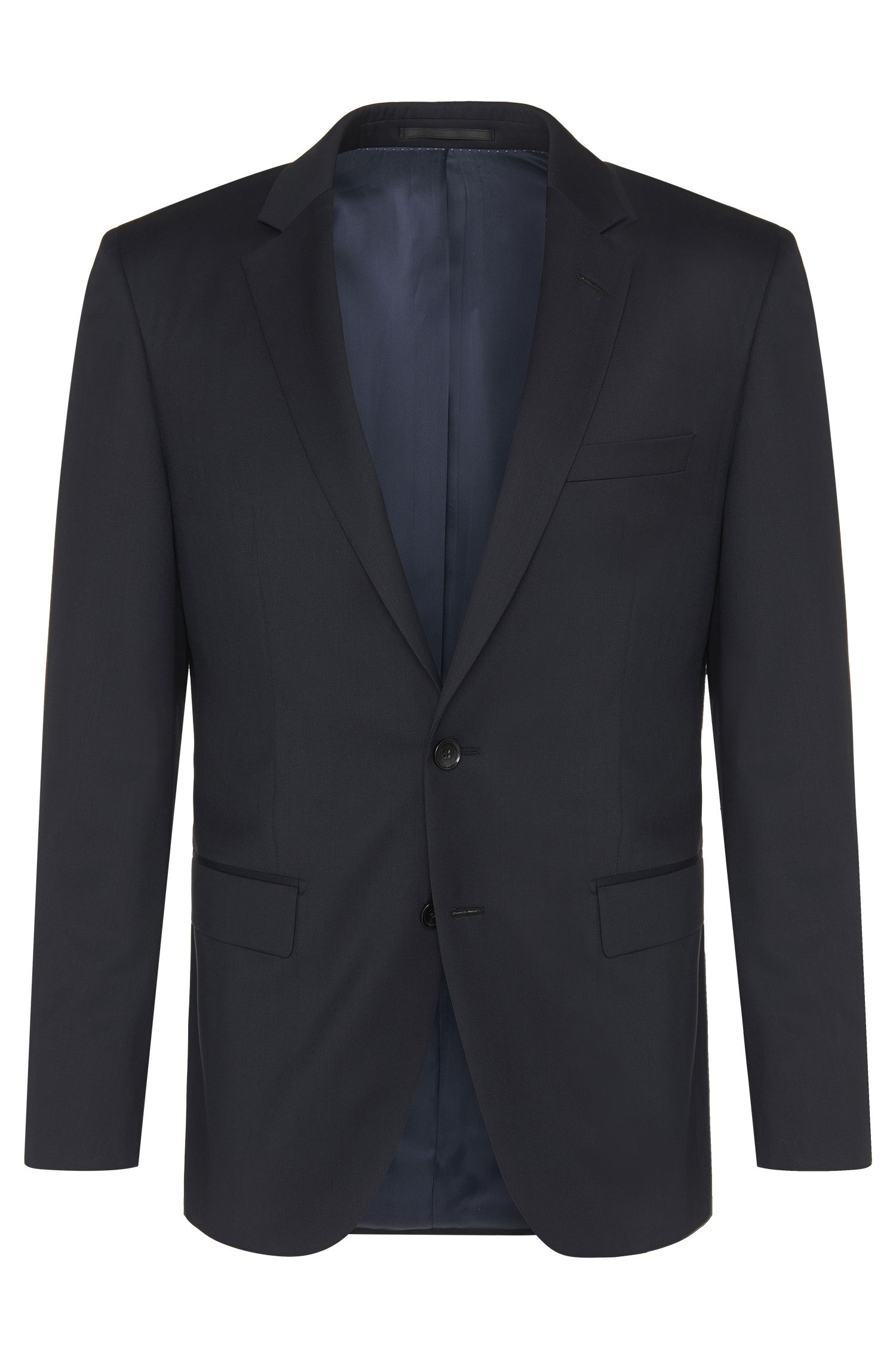 Slim-fit Tailored jacket in pure new wool: 'T-Harvers2'