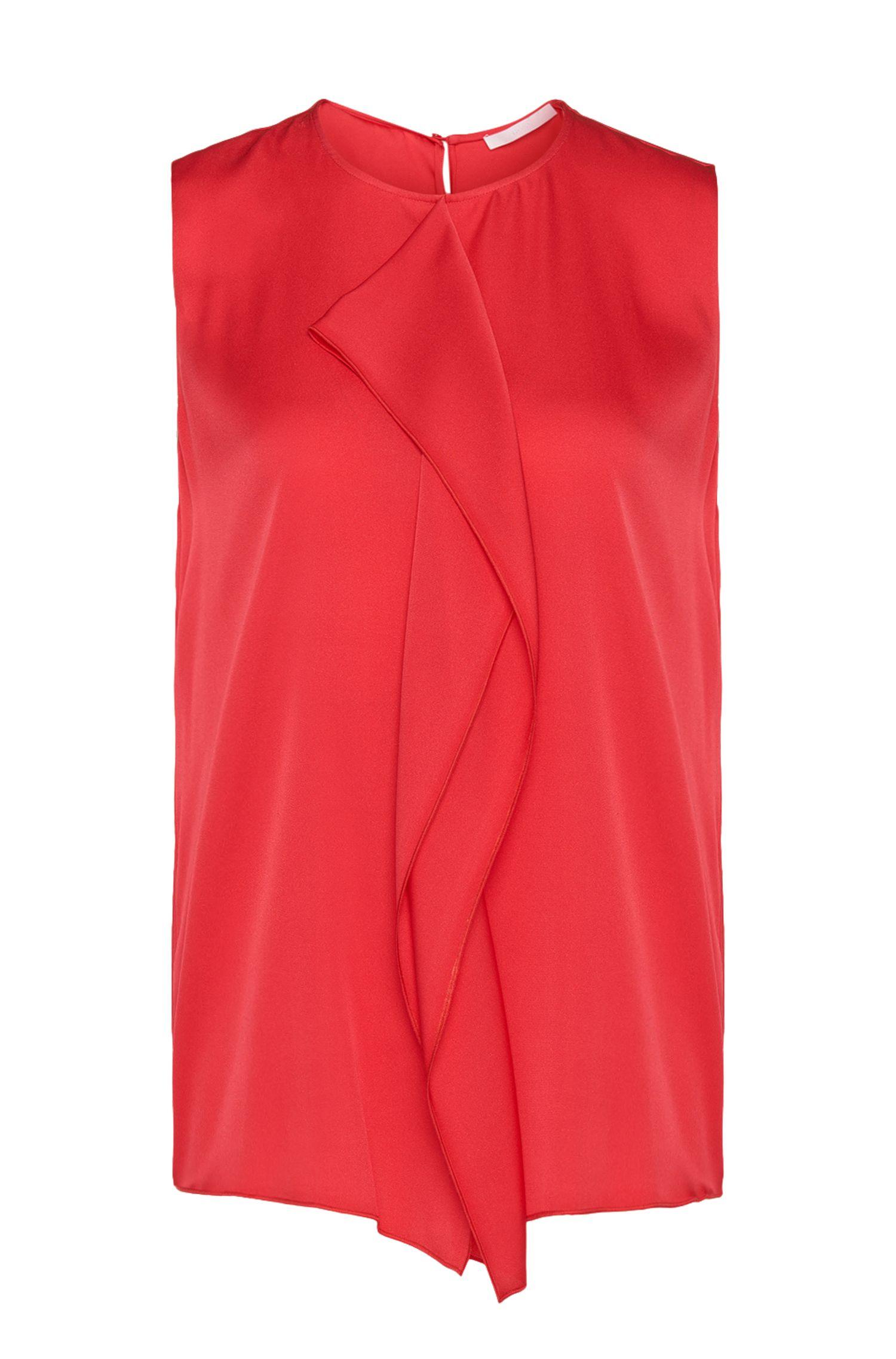 Top de seda elástica con ribete decorativo: 'Ifania'
