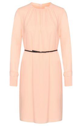 Robe en mousseline dotée d'une ceinture fine à effet cuir: «Danoli», Rose clair