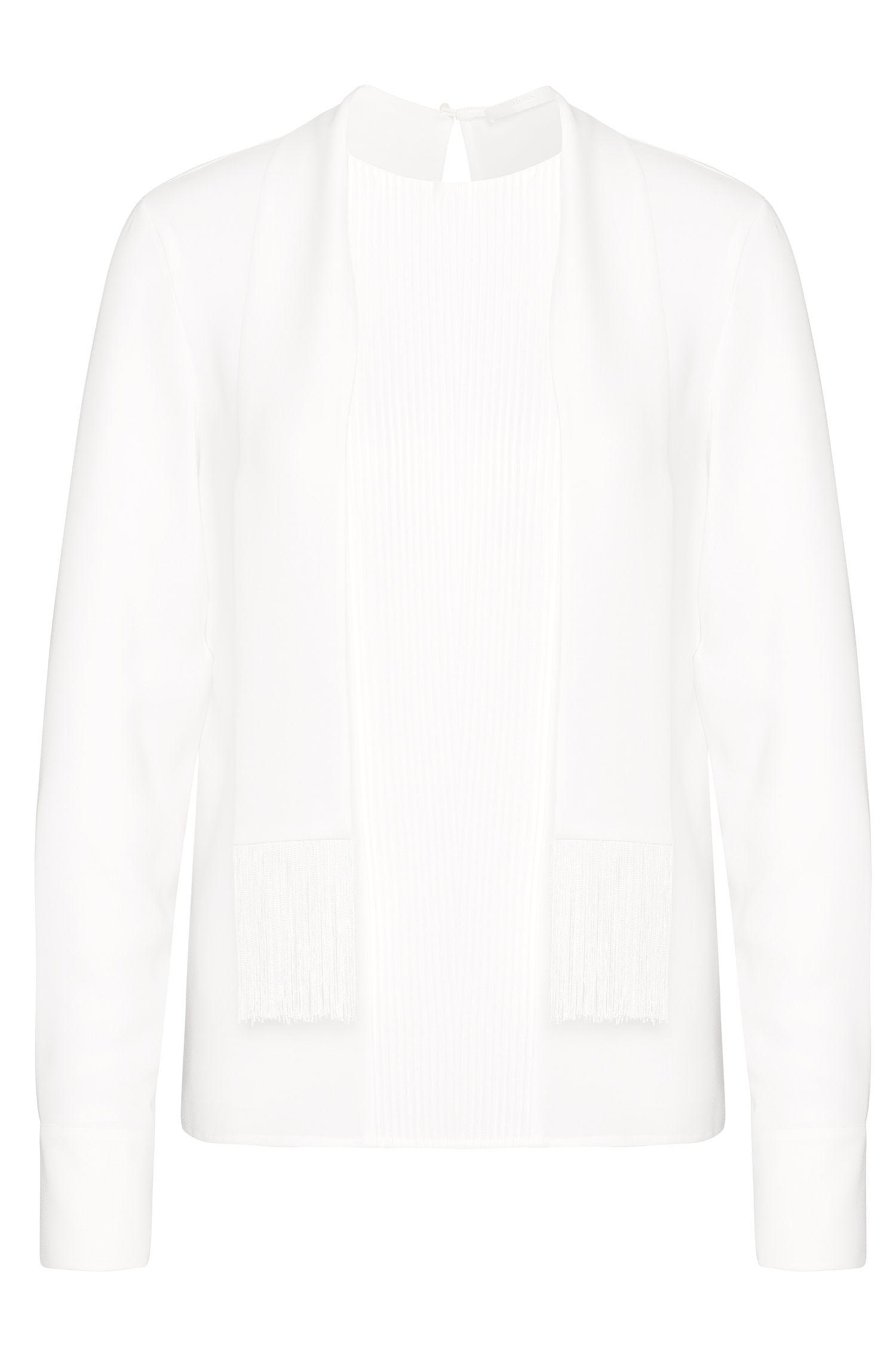 Blusa con jaretas y cuello chal: 'Banoki'