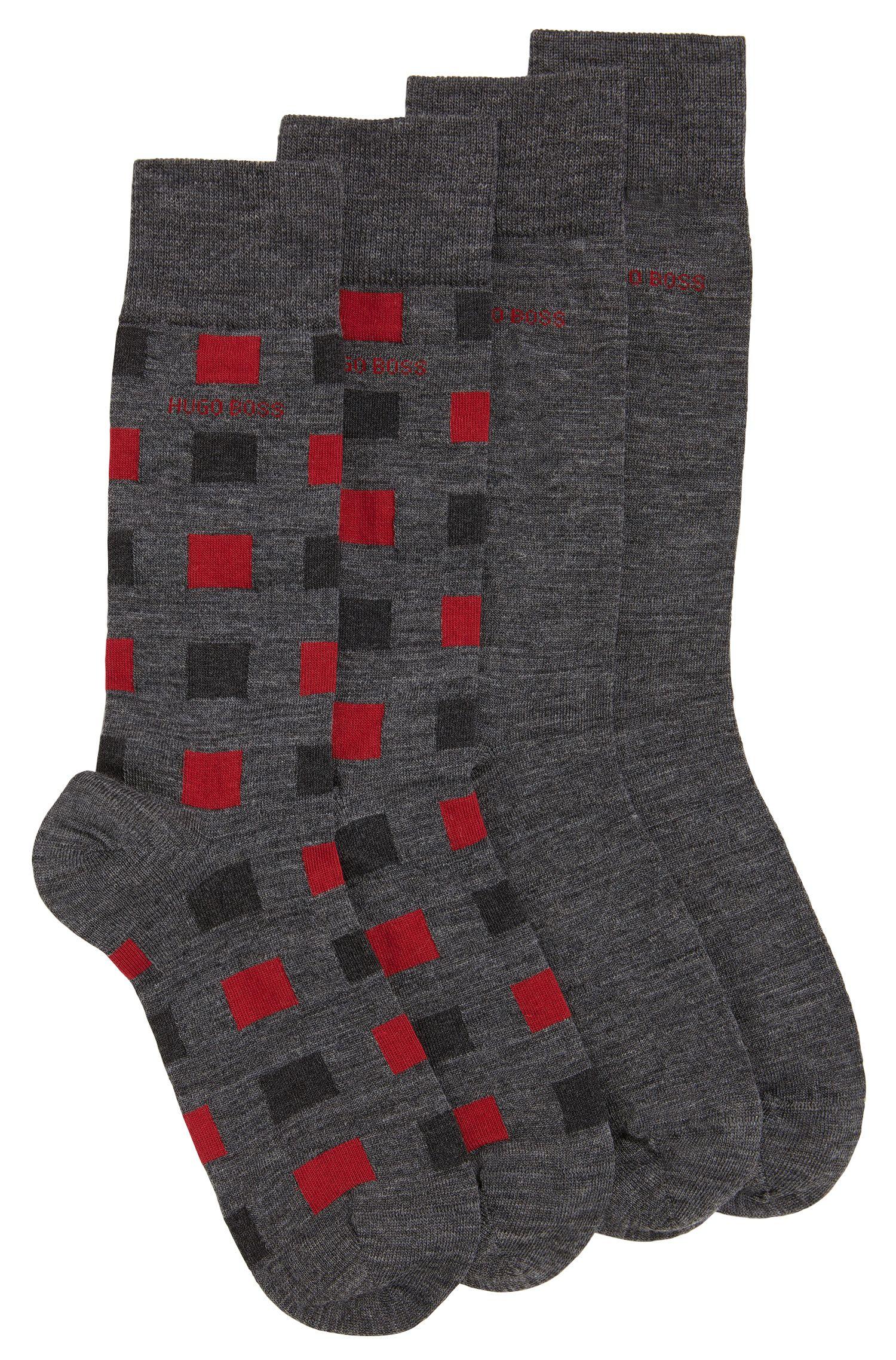Lot de deux paires de chaussettes en laine extensible mélangée à du coton: «TwopackRSDesign»