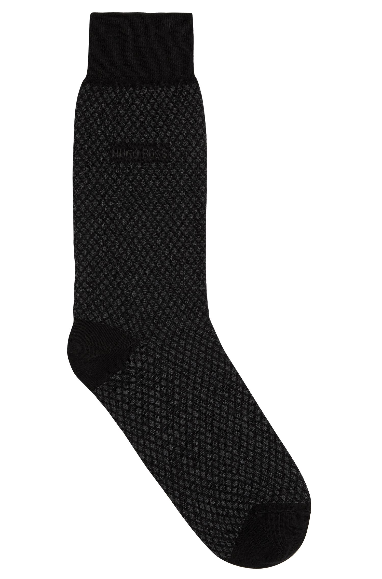 Patterned socks in a cotton blend with cashmere and silk: 'RS Design'