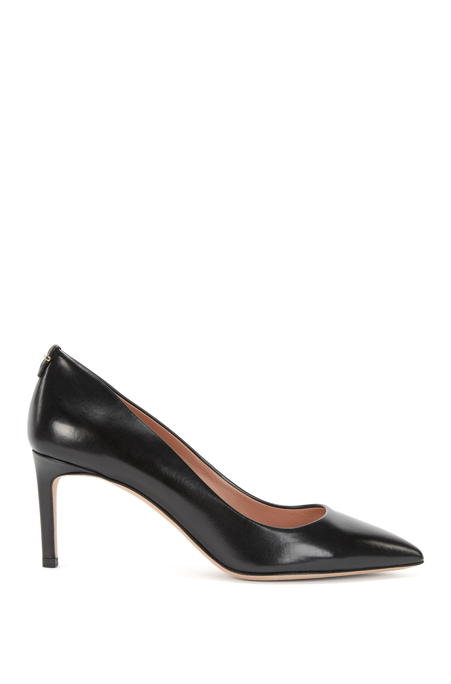 Pumps van luxueus, Italiaans leer uit de Luxury Staple-collectie