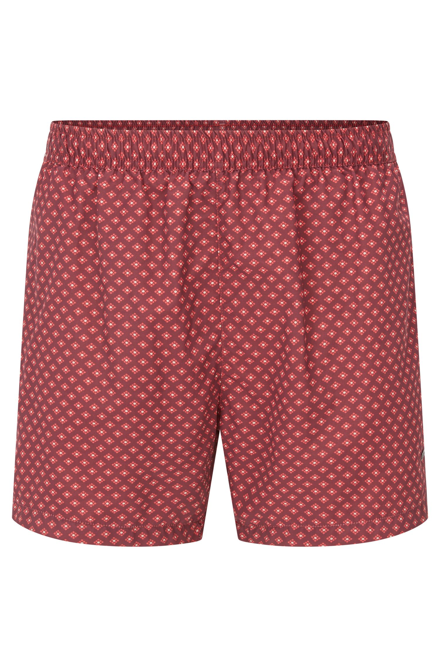 Printed swim shorts in soft technical fabric