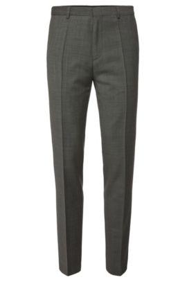 Fijngestructureerde slim-fit broek van zuivere scheerwol: 'HartleyS', Grijs