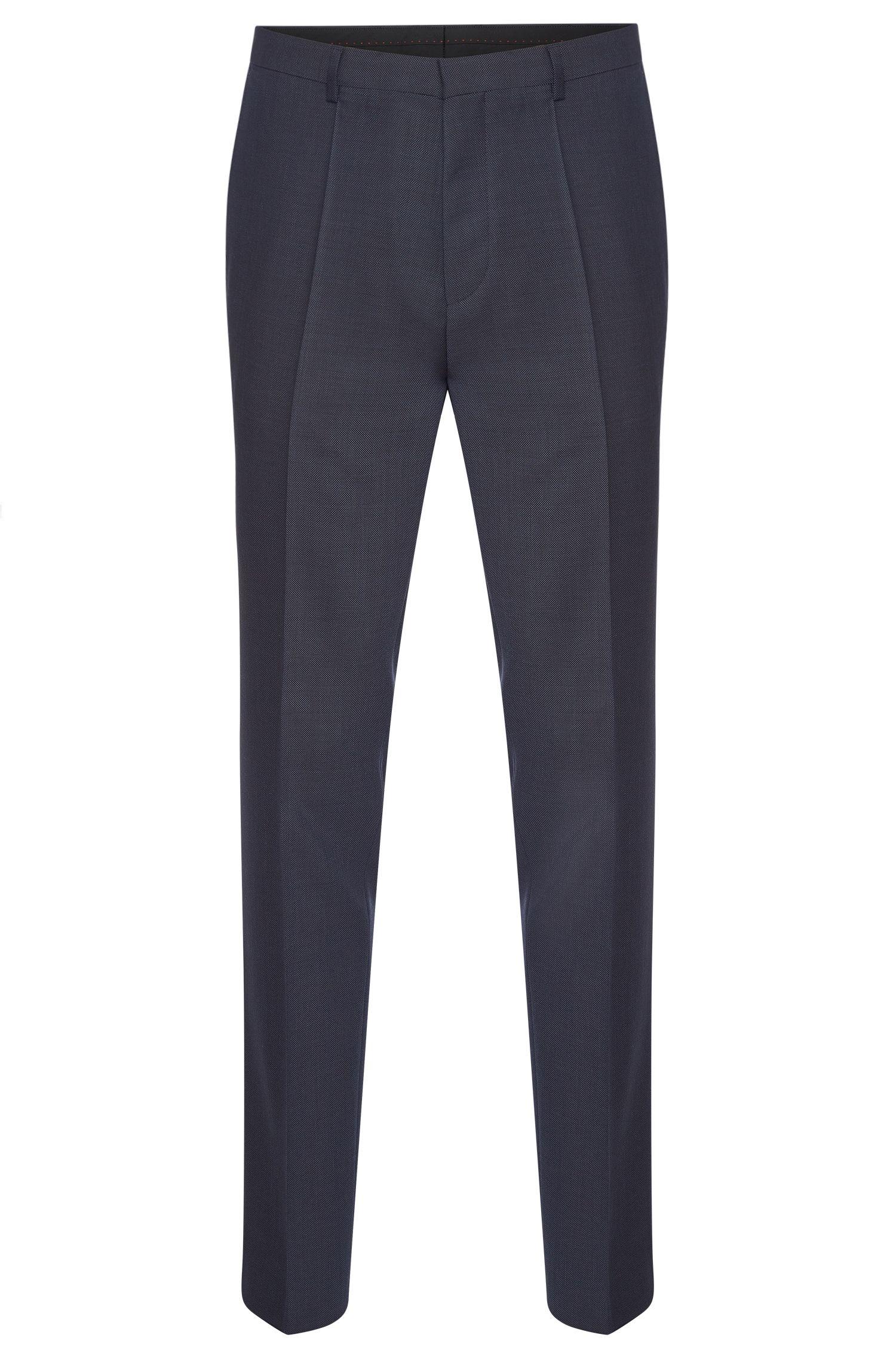 Fijngestructureerde slim-fit broek van zuivere scheerwol: 'HartleyS'