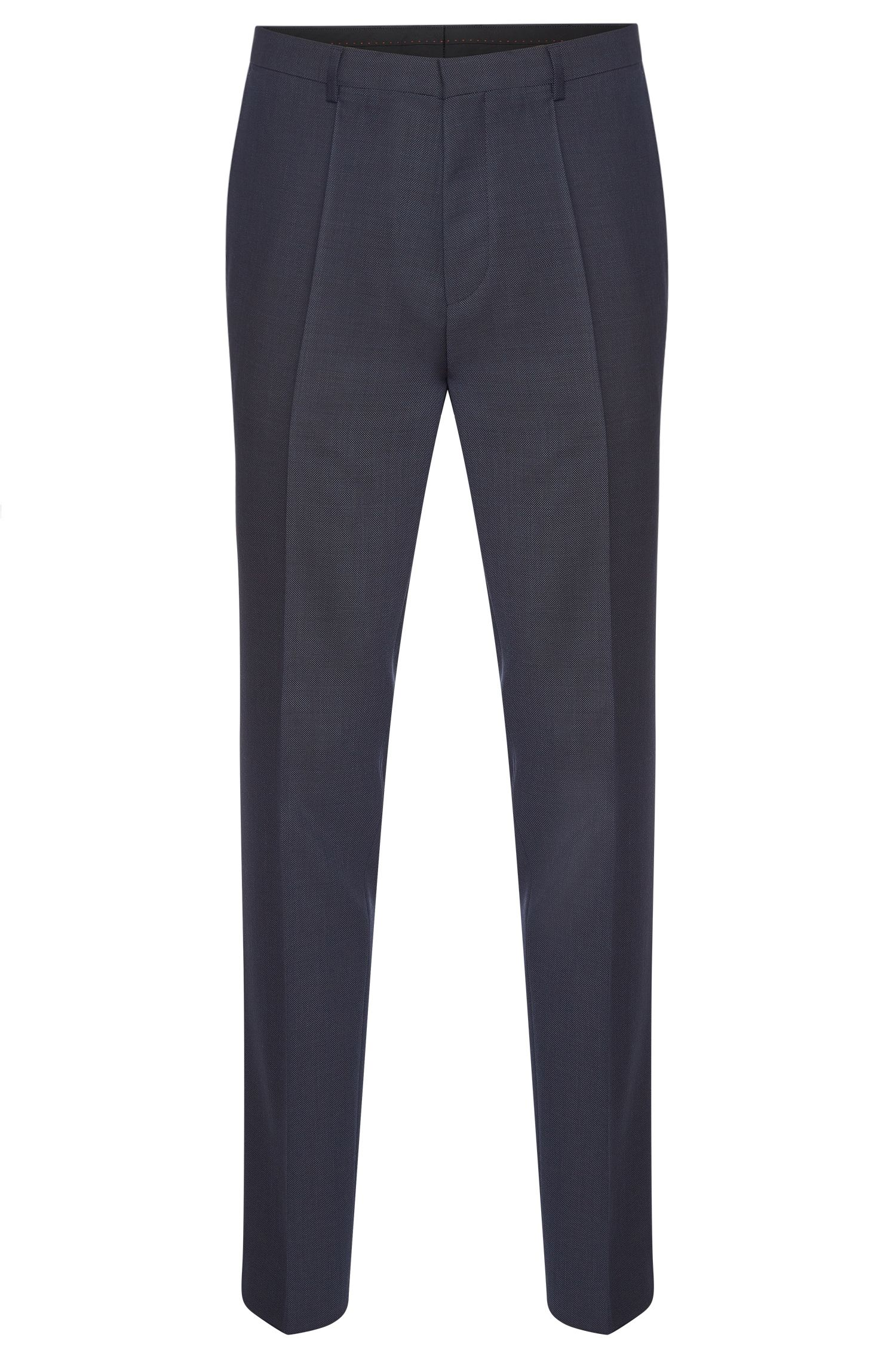 Finely textured slim-fit trousers in pure new wool: 'HartleyS'