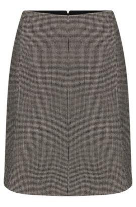 Jupe à carreaux fins en laine mélangée extensible: «Vasyla», Fantaisie