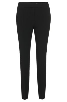 Pantalon Regular Fit à galons : « Tixida », Noir