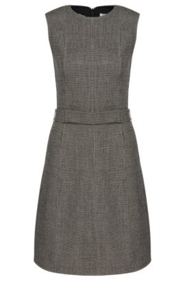 Finely patterned dress in wool blend: 'Diganira2', Patterned