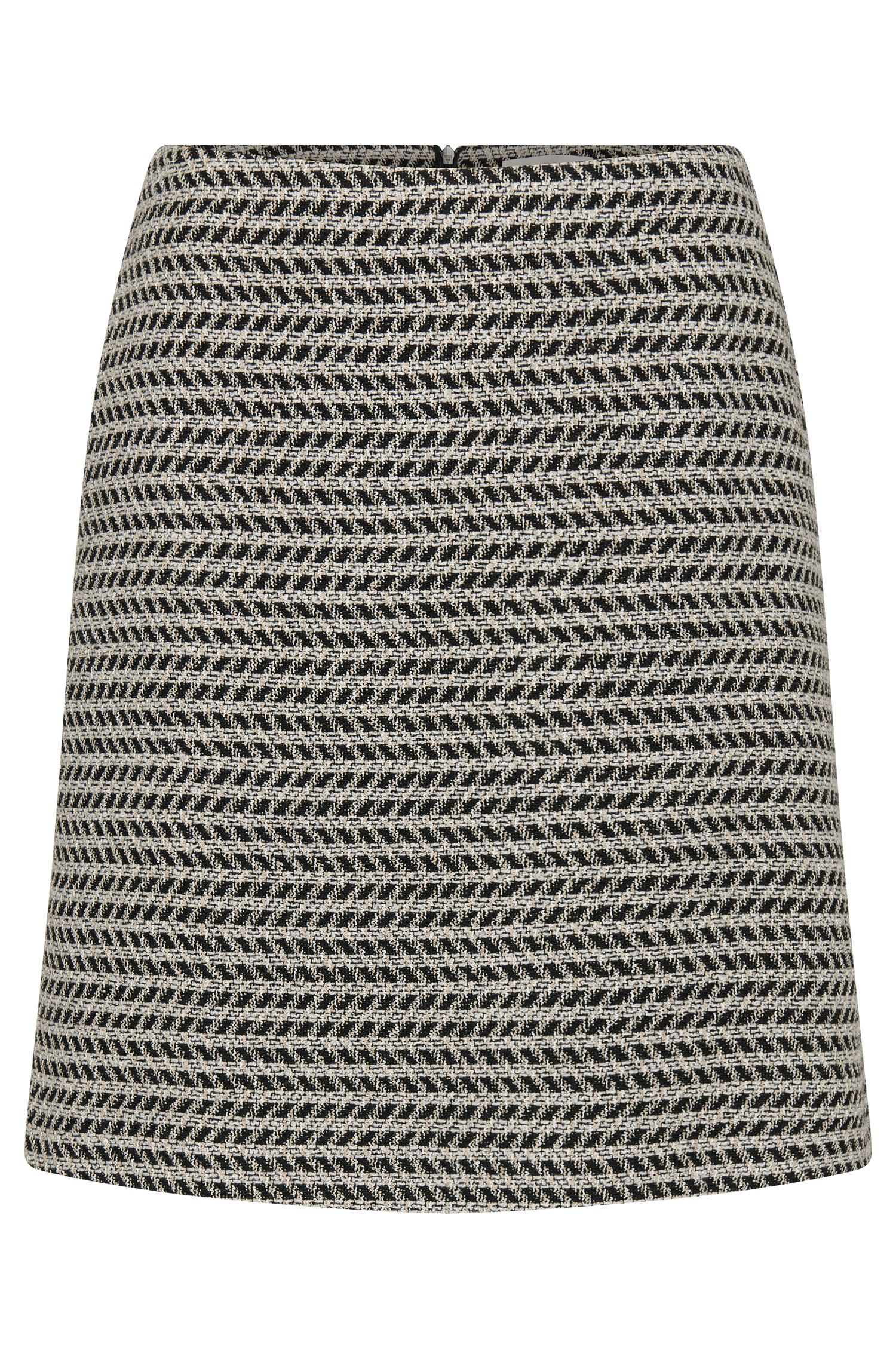 Patterned skirt in cotton blend with new wool: 'Marelia'