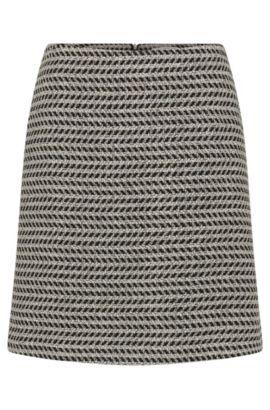 Falda estampada en mezcla de algodón con lana virgen: 'Marelia', Fantasía