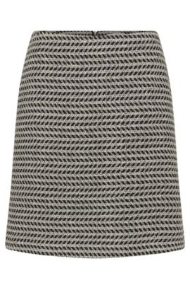 Patterned skirt in cotton blend with new wool: 'Marelia', Patterned