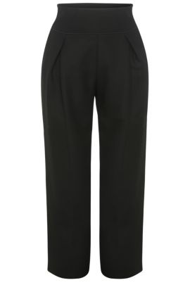 Pantaloni relaxed fit in materiali misti elasticizzati: 'Safolky', Nero