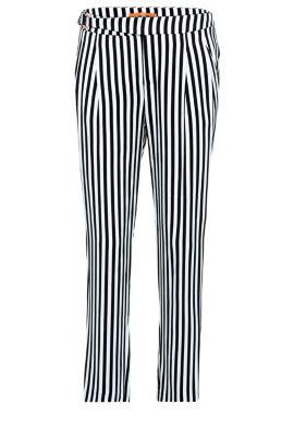Pantalón a rayas regular fit en viscosa: 'Salanja', Fantasía