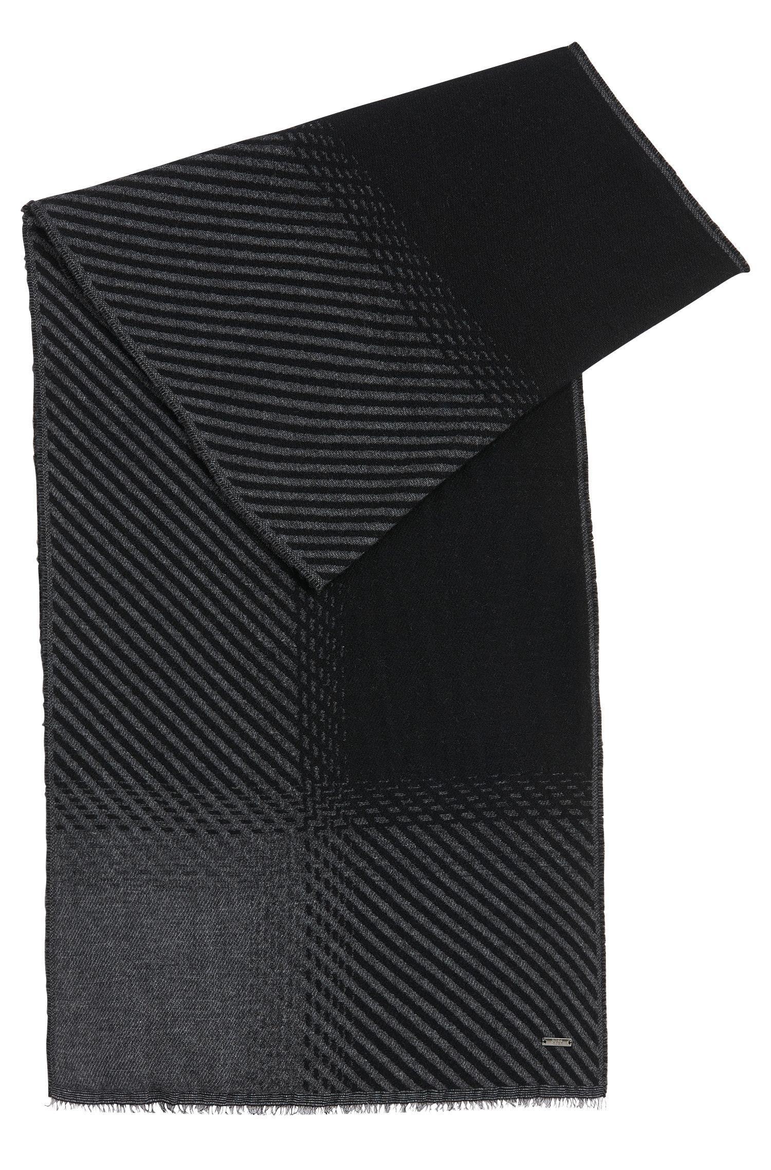 Zweifarbiger Schal aus Schurwoll-Mix mit Kaschmir: 'Punteos'
