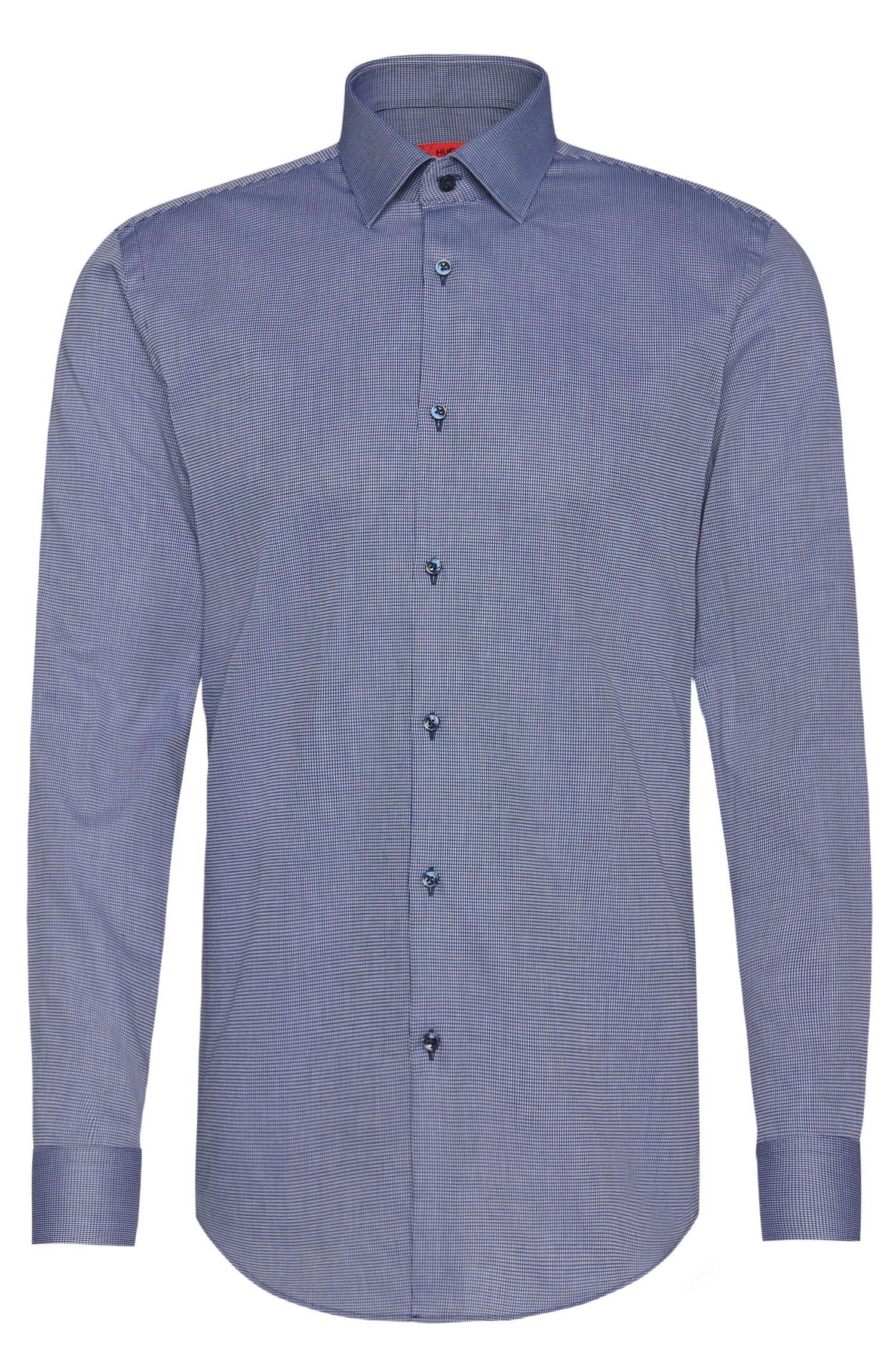 Camisa slim fit en algodón con cuello Kent: 'C-Jenno'