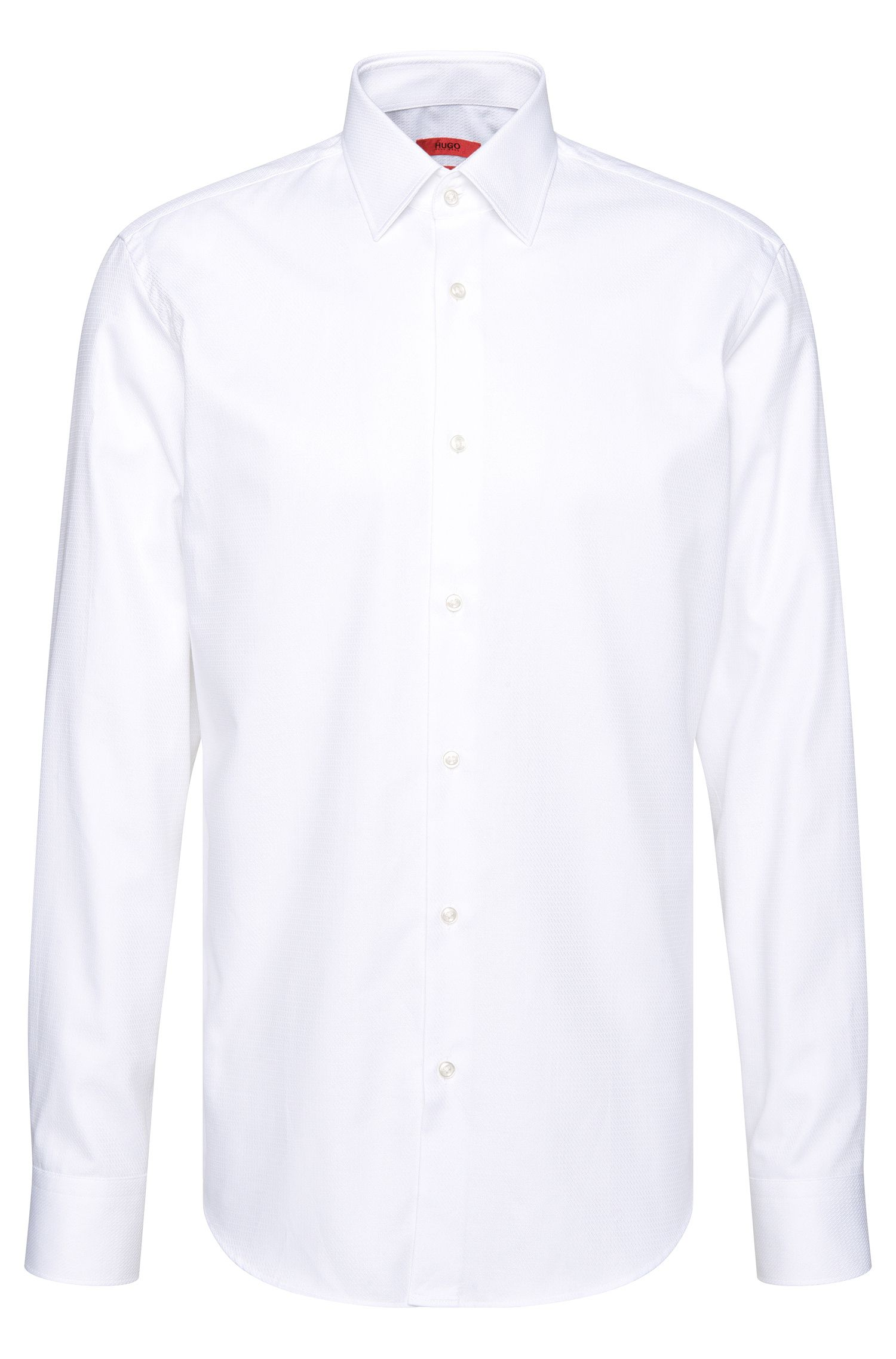 Chemise Regular Fit en coton structuré : « C-Enzo »