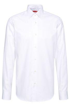 Regular-Fit Hemd aus strukturierte Baumwolle: 'C-Enzo', Weiß