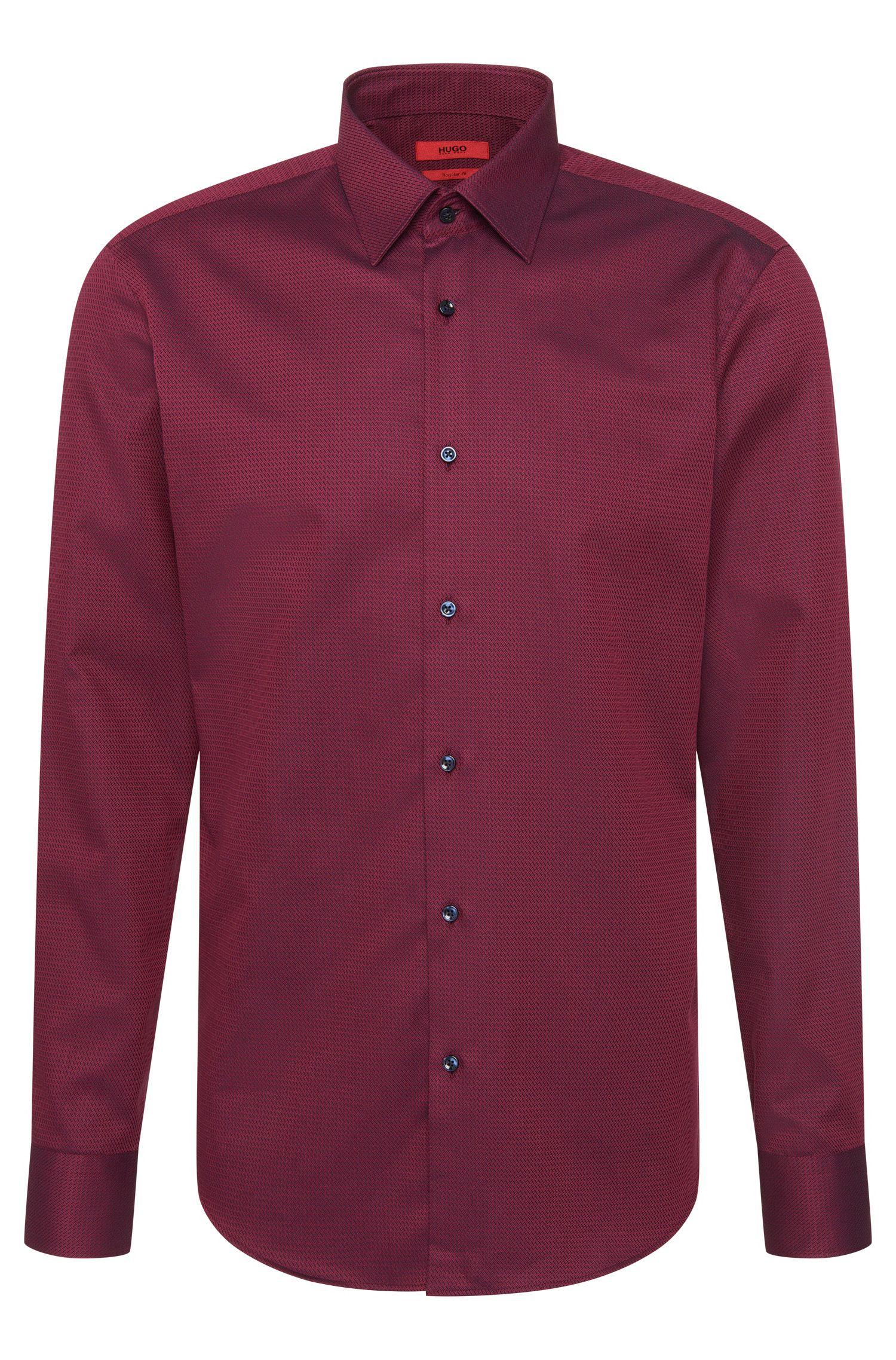 Regular-fit shirt in textured cotton: 'C-Enzo'