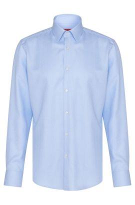 Camisa regular fit en algodón con estampado integral: 'C-Enzo', Celeste