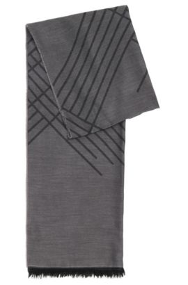 Plain scarf in viscose blend with cotton and modal: 'Callorio', Open Grey