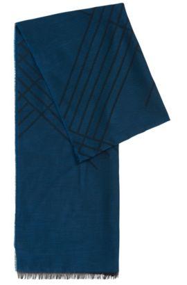 Écharpe unie en viscose mélangée à du coton et du modal: «Callorio», Turquoise