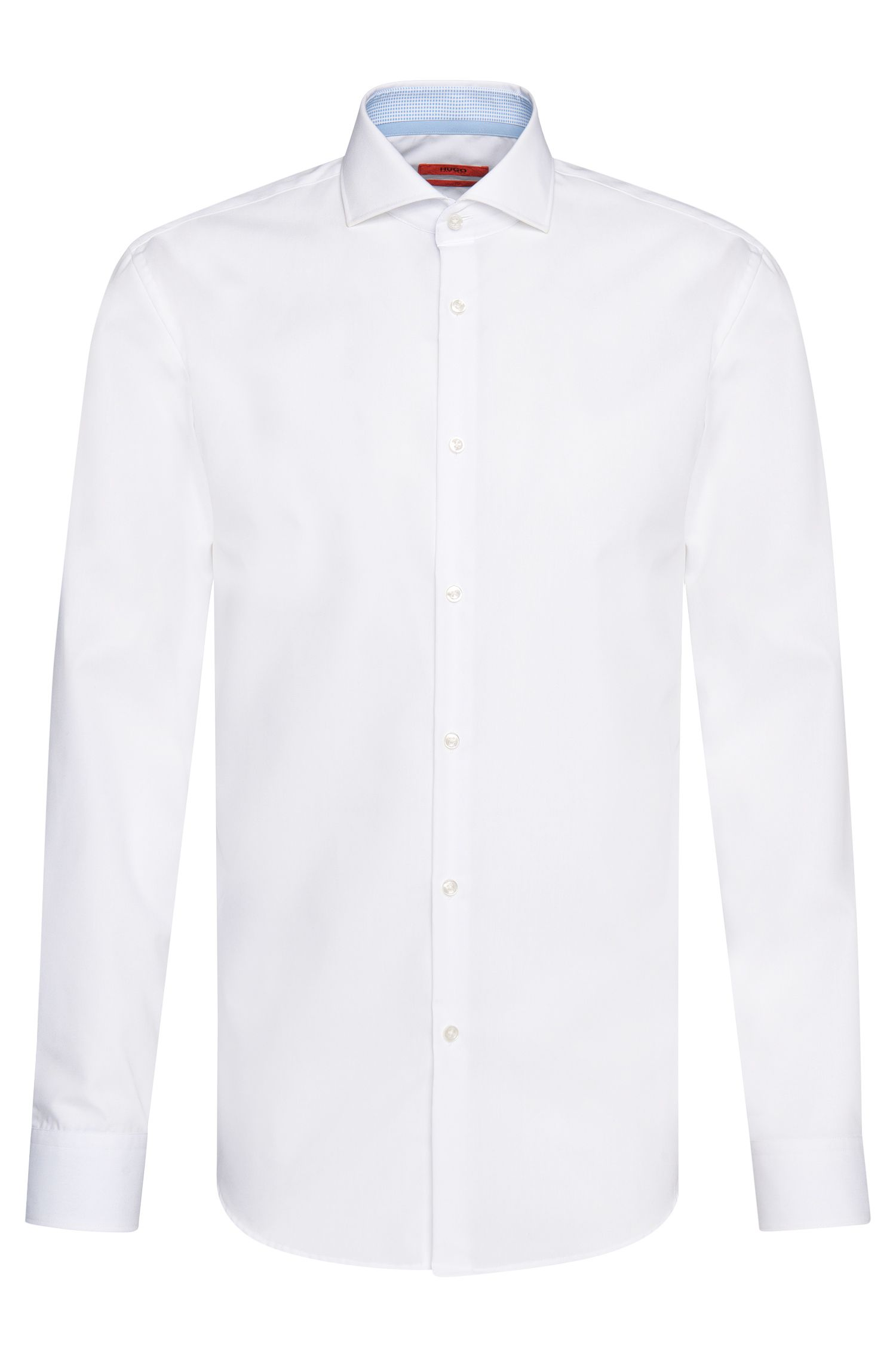 Slim-fit shirt in cotton with contrasting details: 'C-Jery'