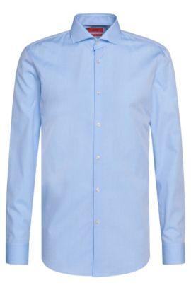 Geruit, slim-fit overhemd van katoen met fijne structuur: 'C-Jason', Lichtblauw