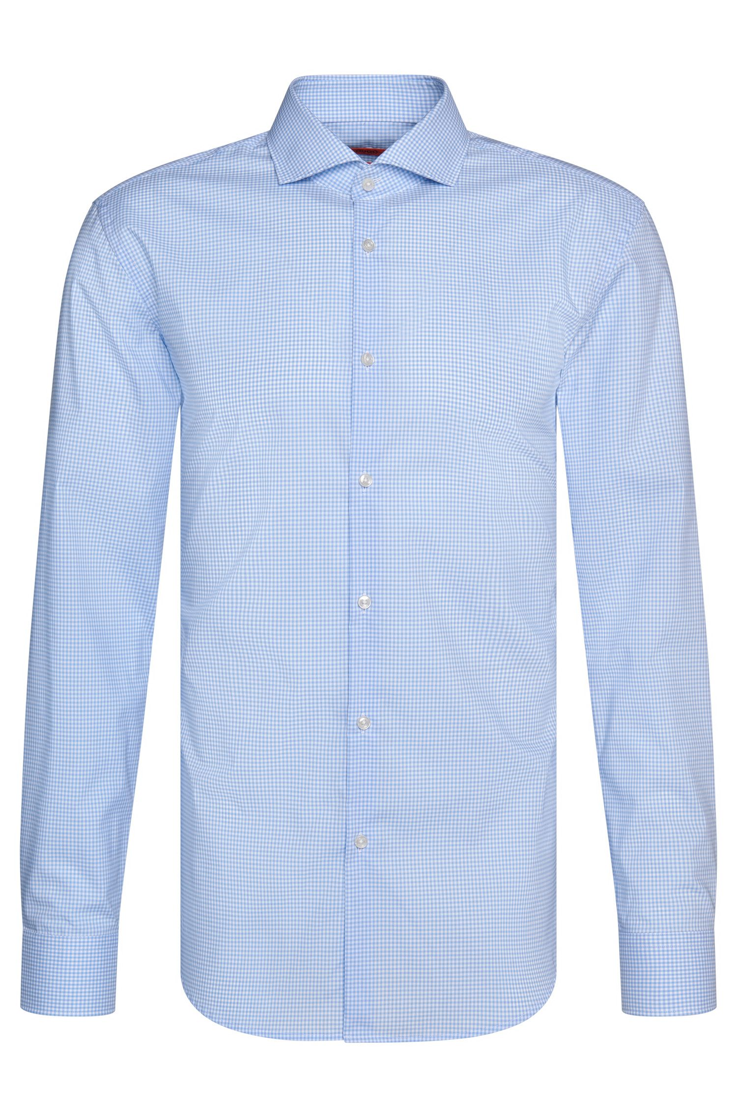 Camicia slim fit a quadri in cotone facile da stirare: 'C-Jason'