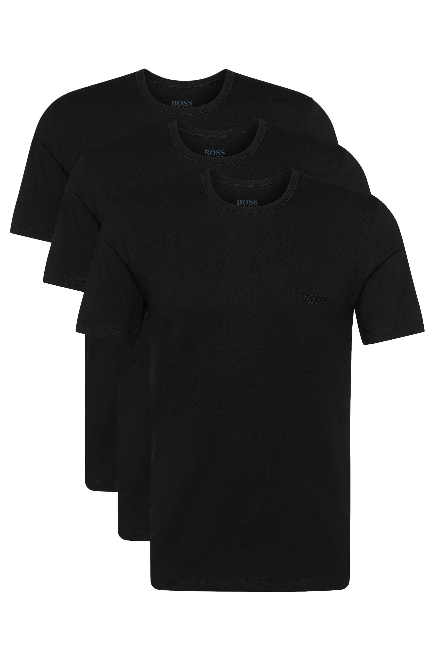 Triple pack of regular-fit cotton T-shirts
