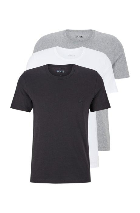 T-Shirts aus reiner Baumwolle im Dreier-Pack, Assorted-Pre-Pack