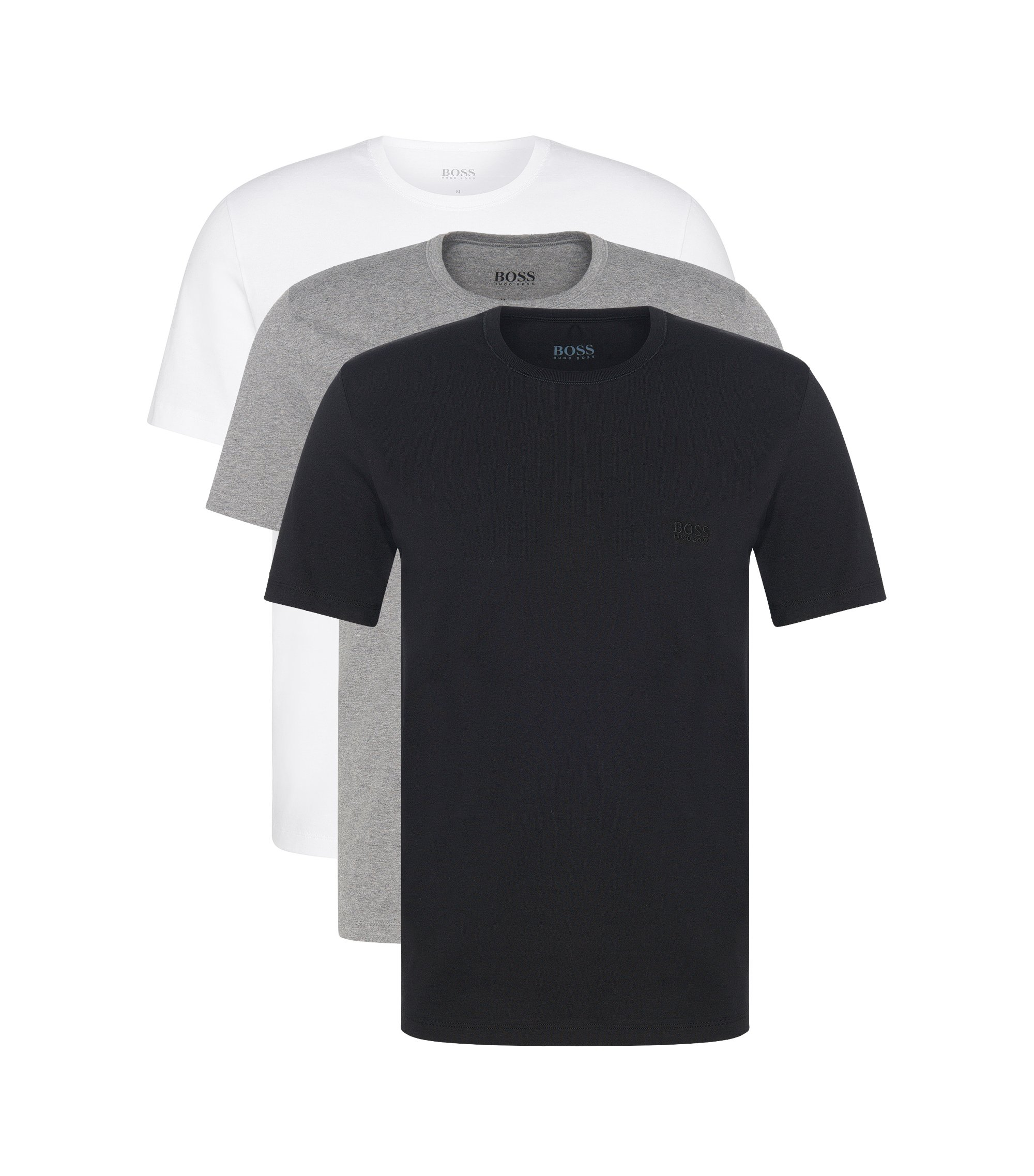 Set van drie regular-fit T-shirts van katoen , Assorted-Pre-Pack