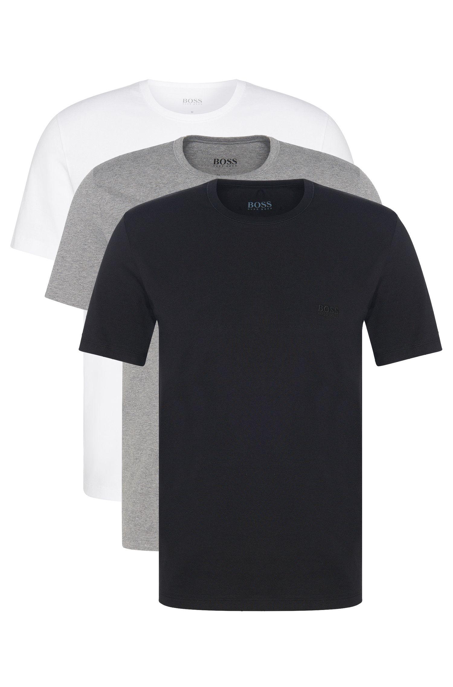 Regular-Fit T-Shirts aus Baumwolle im Dreier-Pack