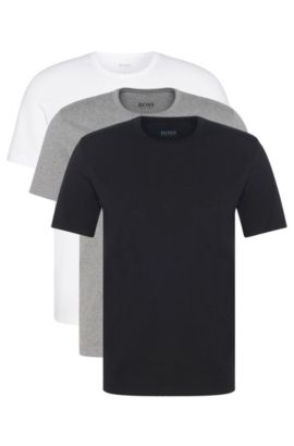 Triple pack of regular-fit cotton T-shirts , Assorted-Pre-Pack
