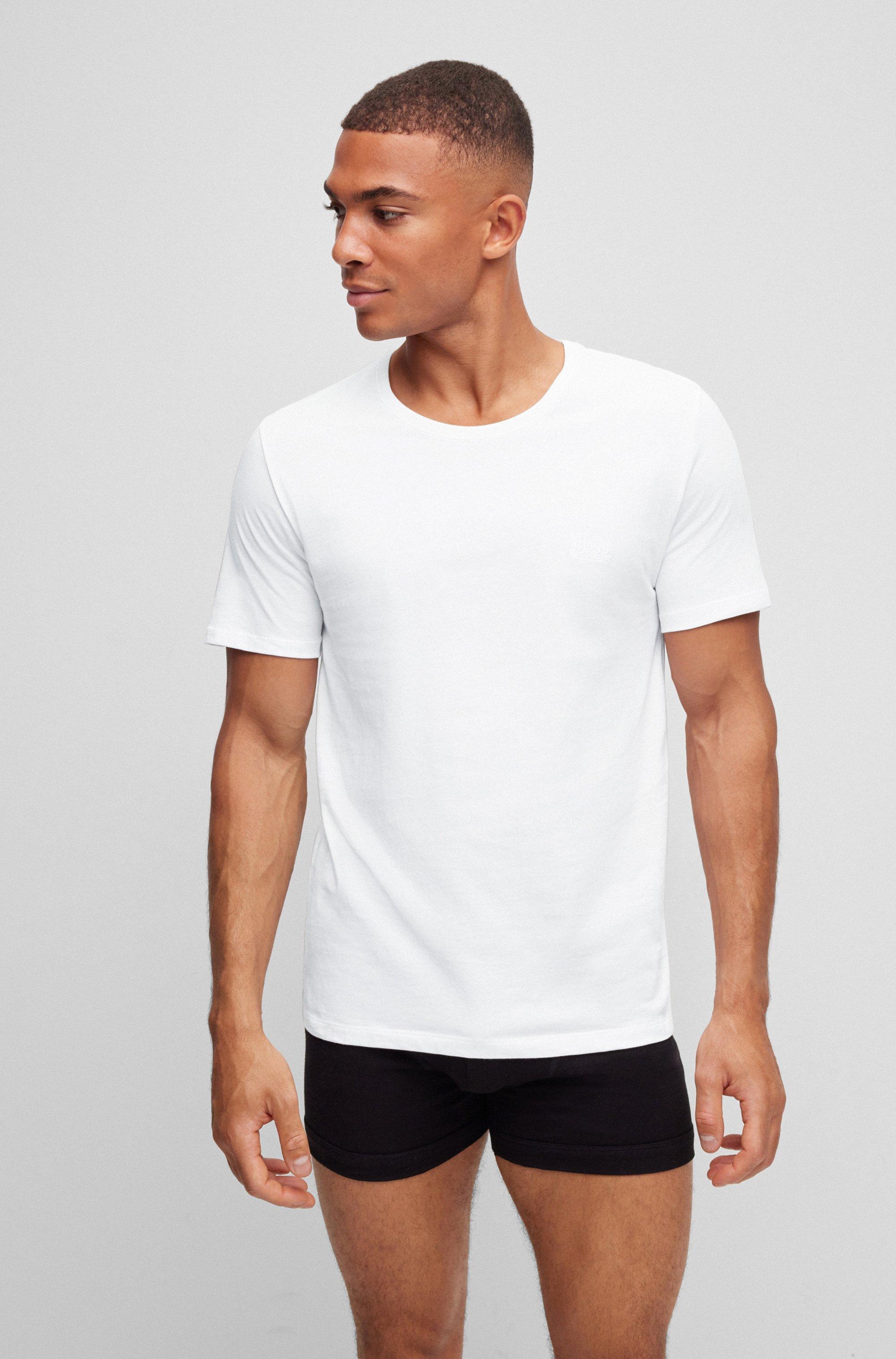 T-Shirts aus Baumwolle im Dreier-Pack