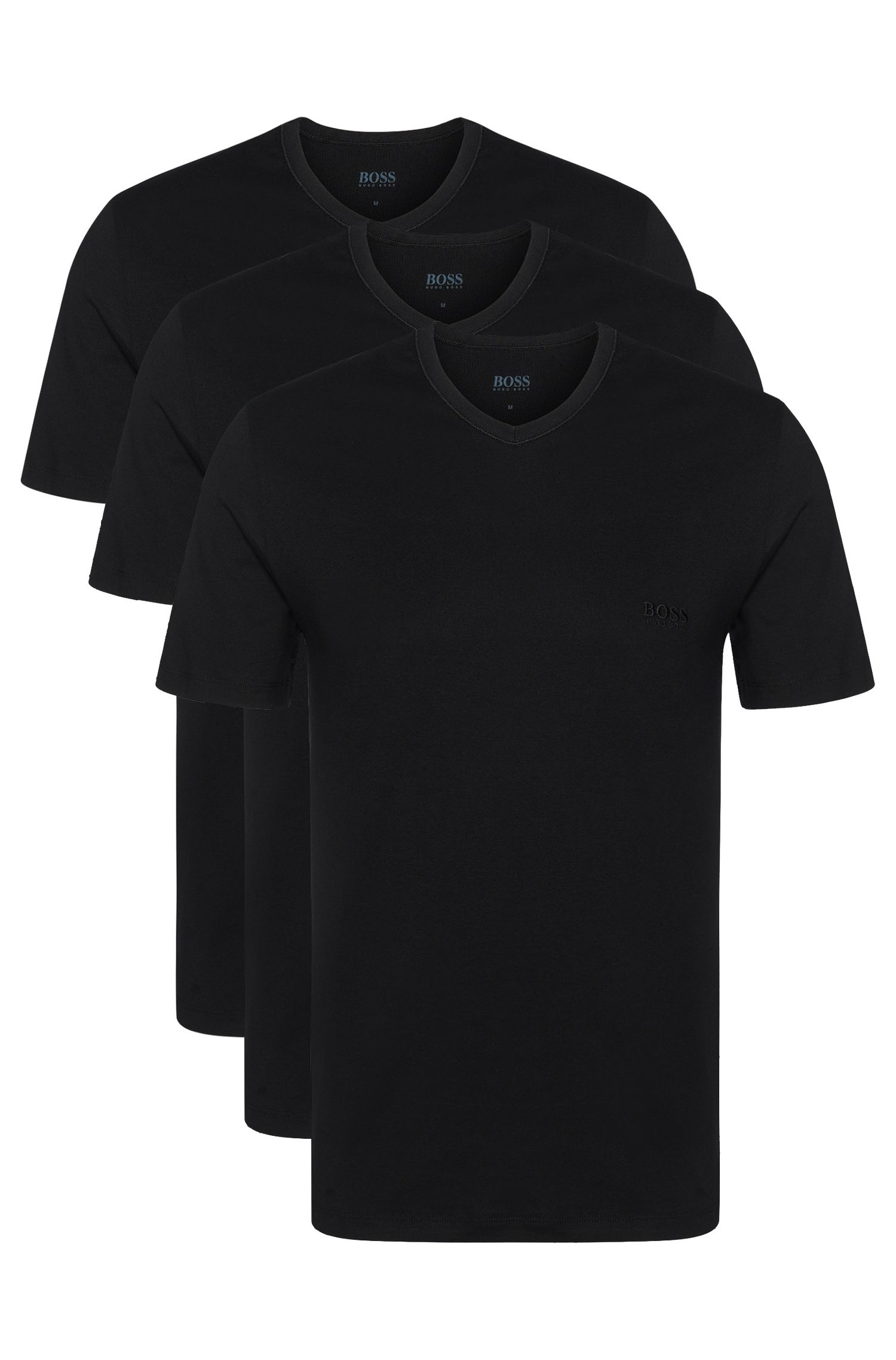 Regular-Fit T-Shirts aus Baumwolle im Dreier-Pack